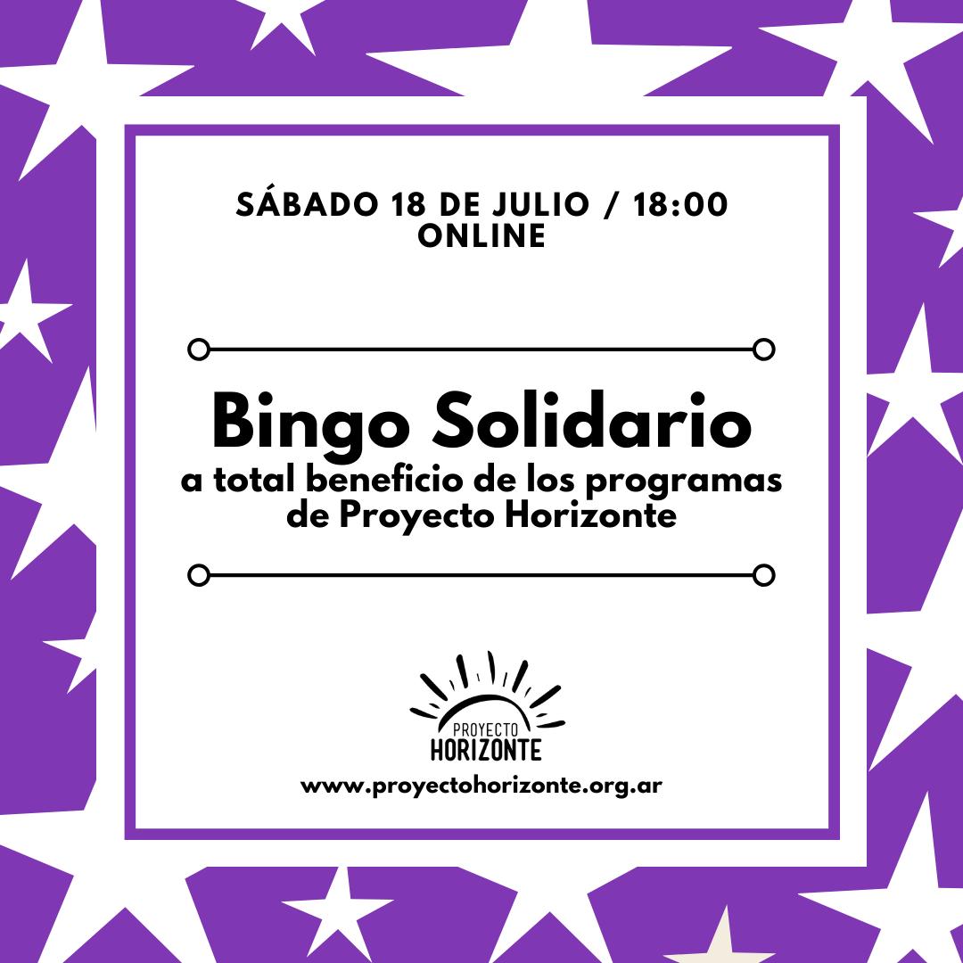 Bingo Solidario a total beneficio de los programas de Proyecto Horizonte