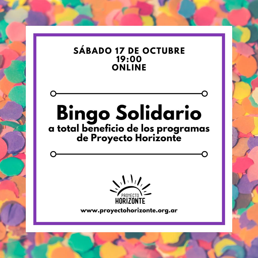 Bingo Solidario a total beneficio de los programas de Proyecto Horizonte Octubre